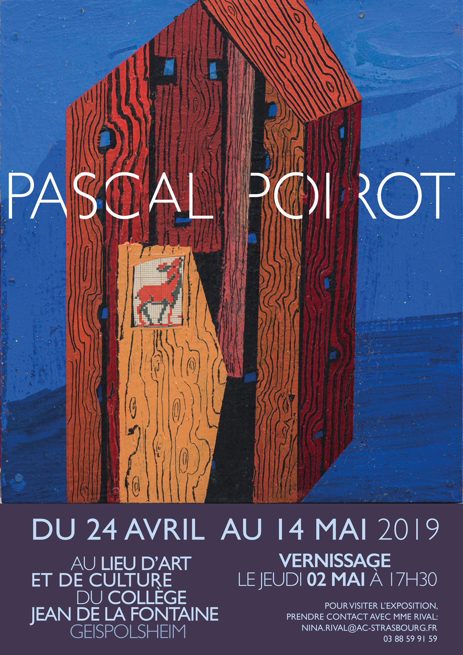 Affiche expo Pascal Poirot